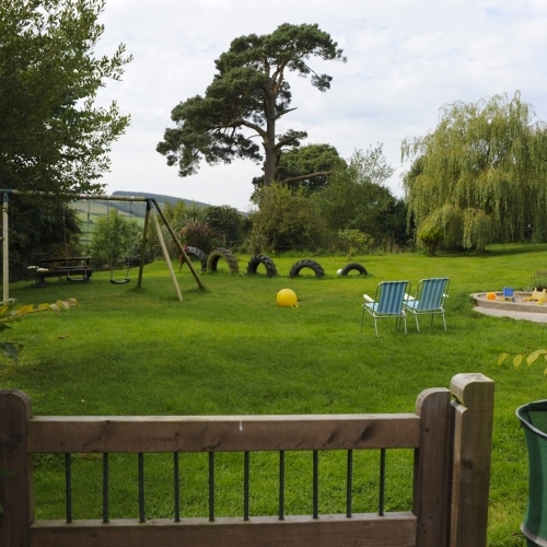 Garden and Play Area at Bryncalled Barns